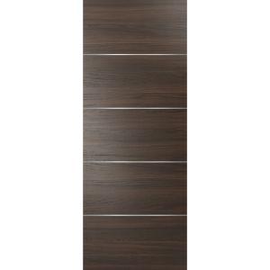 Slab Barn Door Panel   Planum 0020 Chocolate Ash   Sturdy Finished Flush Modern Doors   Pocket Closet Sliding
