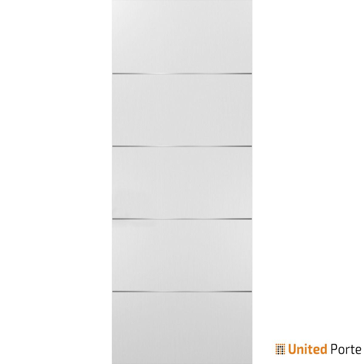 Planum 0020 White Sliding Barn Door Slab   Modern Solid Panel Interior Barn Doors