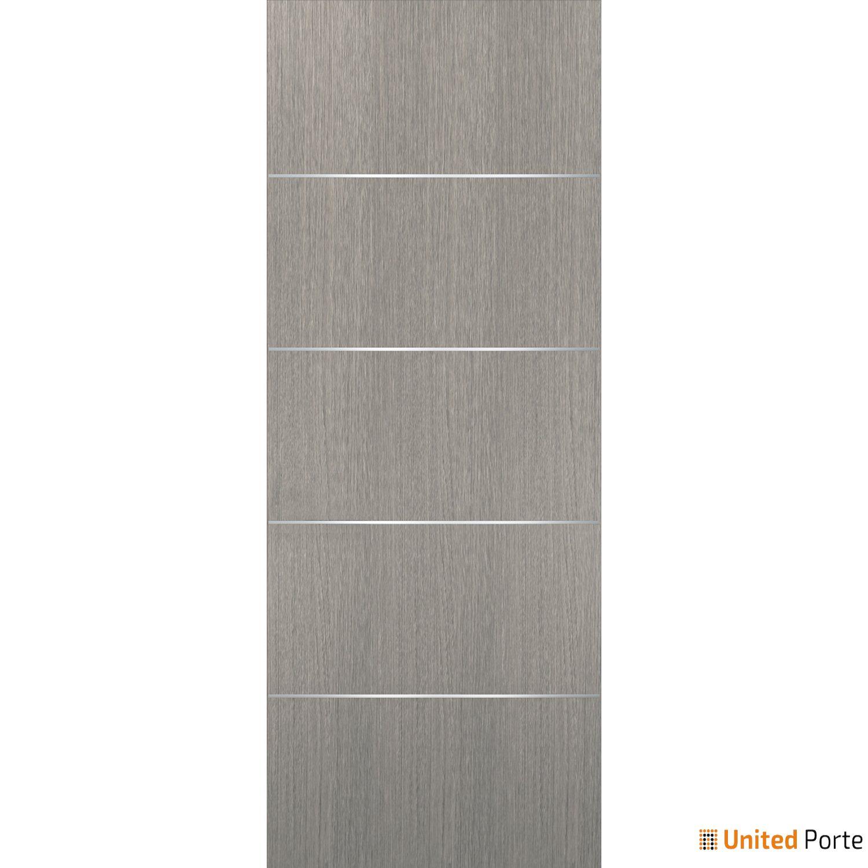 Planum 0020 Grey Oak Sliding Barn Door Slab | Modern Solid Panel Interior Barn Doors