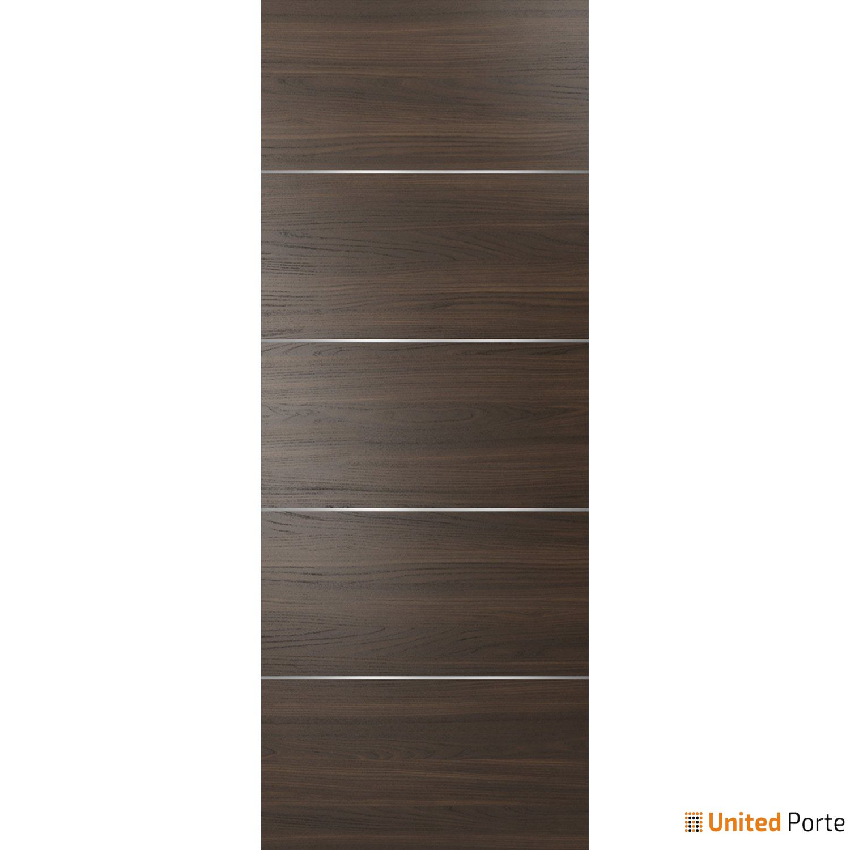 Planum 0020 Chocolate Ash Sliding Barn Door Slab   Modern Solid Panel Interior Barn Doors