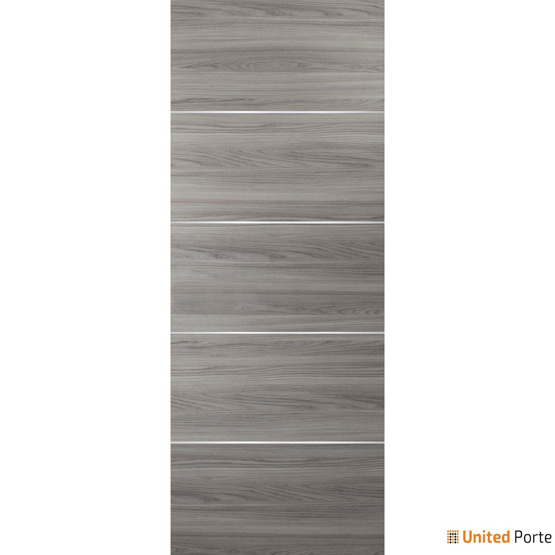 Planum 0020 Ginger Ash Sliding Barn Door Slab | Modern Solid Panel Interior Barn Doors