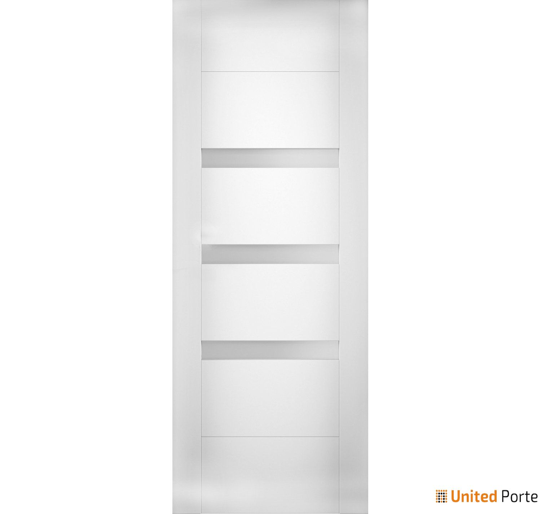 Sete 6900 White Silk Modern Barn Door Opaque Glass Slab | Solid Panel Interior Barn Doors