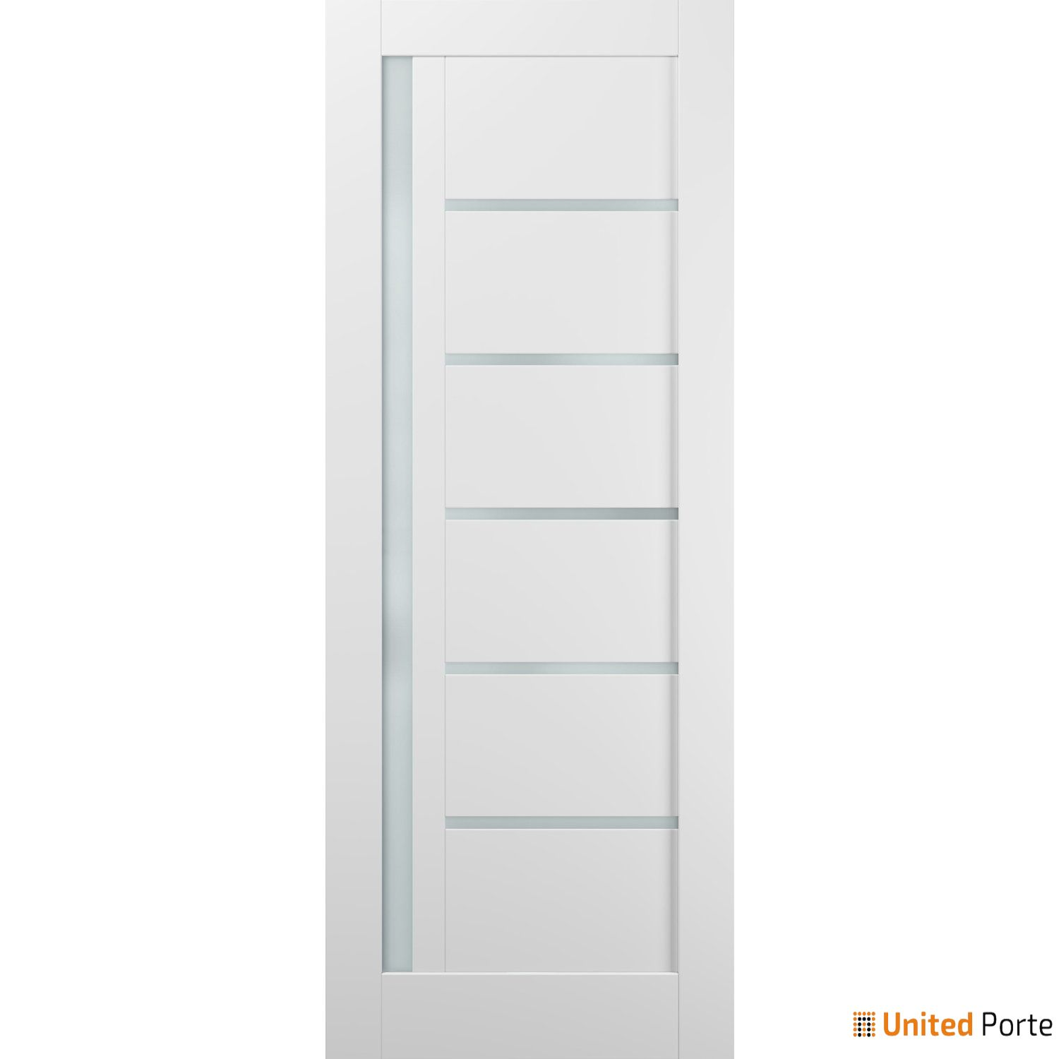 Quadro 4088 White Silk with Frosted Opaque Glass Sliding Barn Door Slab   Lite Wooden Solid Panel Interior Barn Doors