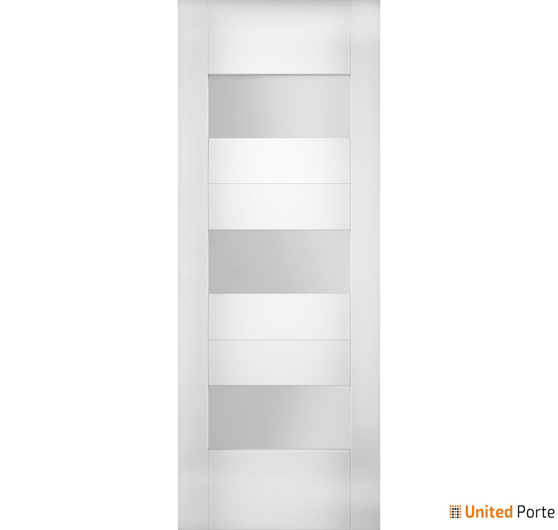 Sete 6003 White Silk Modern Barn Door Opaque Glass Slab | Solid Panel Interior Barn Doors