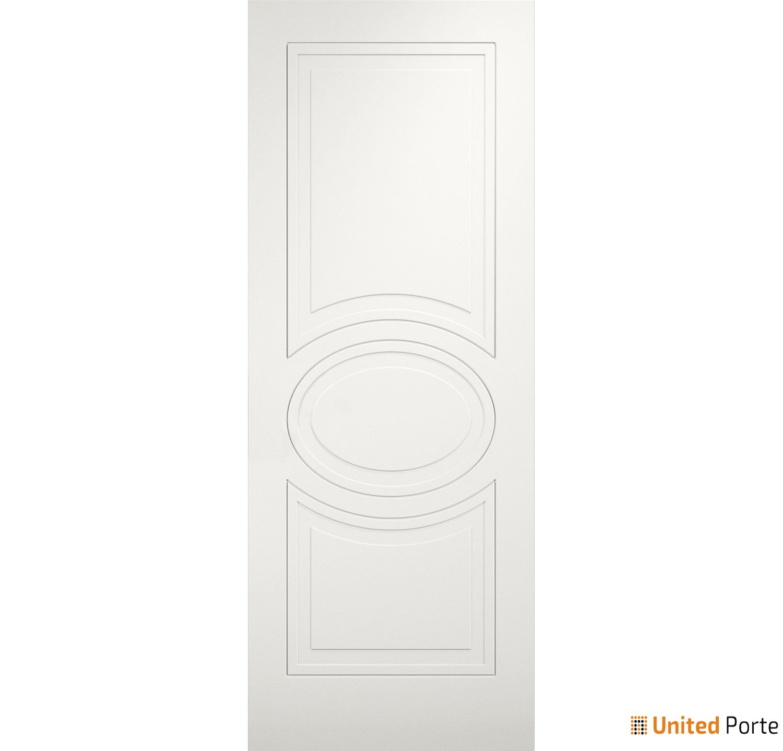 Mela 7001 Matte White Modern Barn Door Slab | Solid Panel Interior Barn Doors