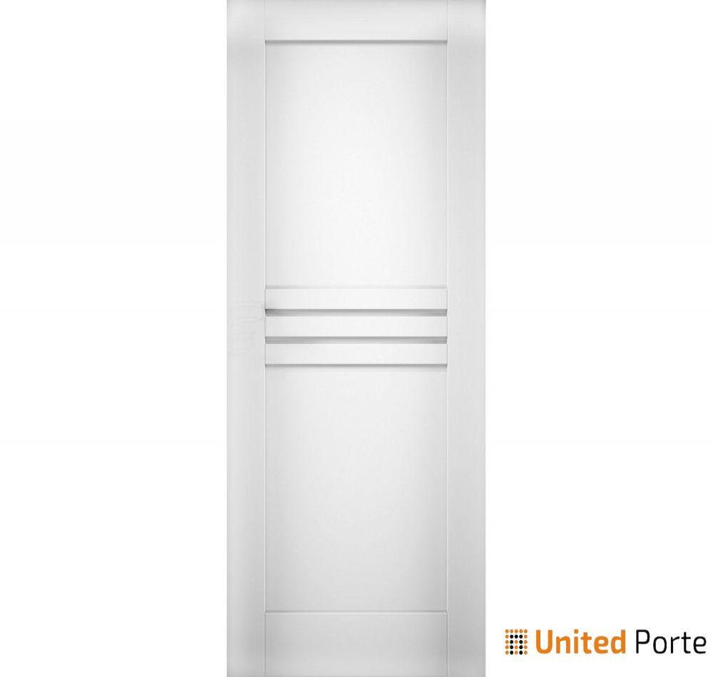 Mela 7444 White Silk Modern Barn Door Slab | Solid Panel Interior Barn Doors