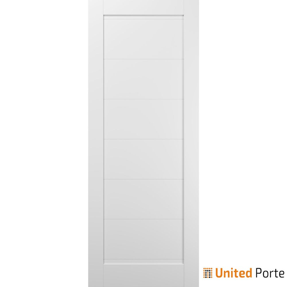 Quadro 4115 White Silk Sliding Barn Door Slab | Wooden Solid Panel Interior Barn Doors