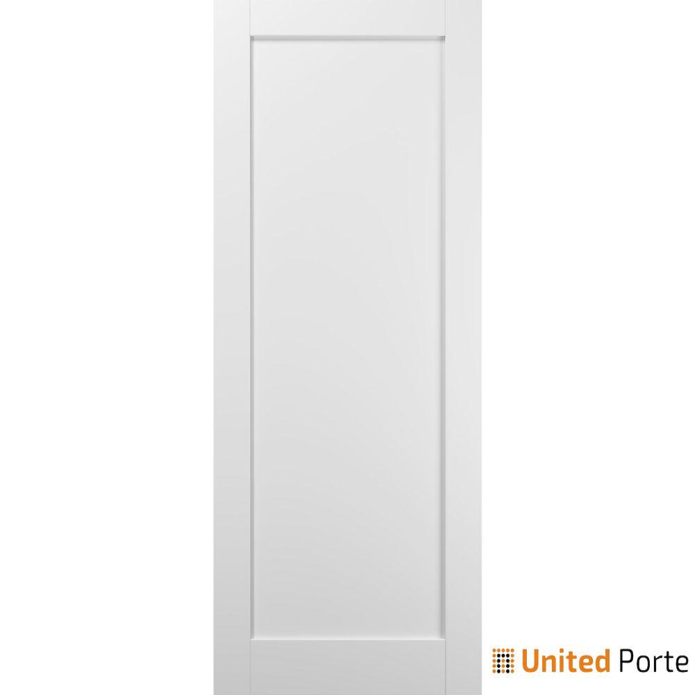 Quadro 4111 White Silk Sliding Barn Door Slab   Wooden Solid Panel Interior Barn Doors